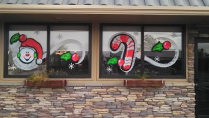 Holiday Window Painting - Window Painting